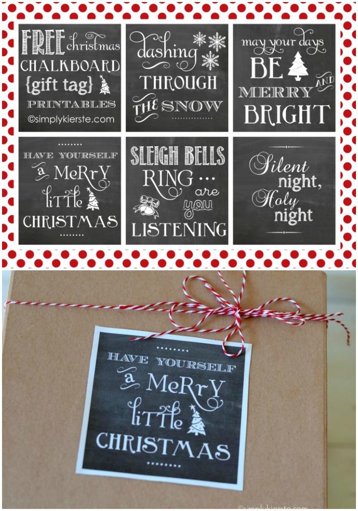 Chalkboard Gift Tags    Free Printables   oldsaltfarm.com