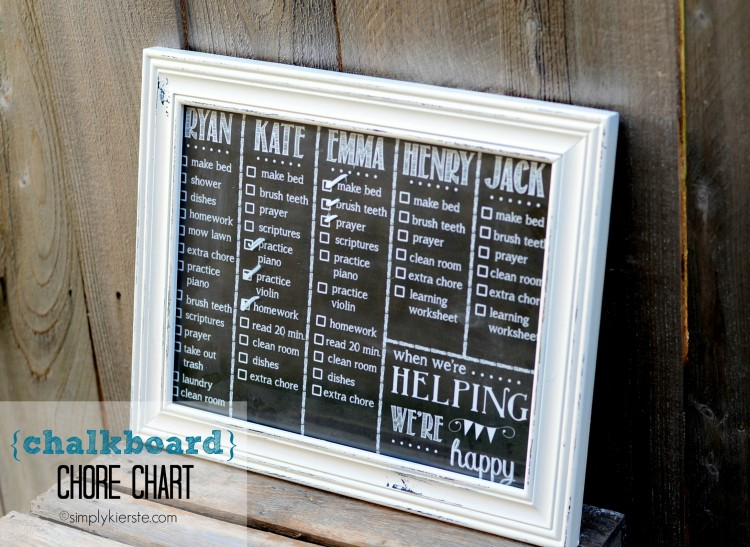chalkboard chore chart | oldsaltfarm.com