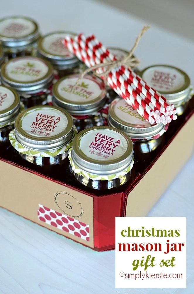 christmas mason jar gift set | oldsaltfarm.com