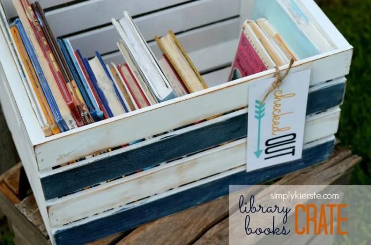 Library Books Crate | oldsaltfarm.com