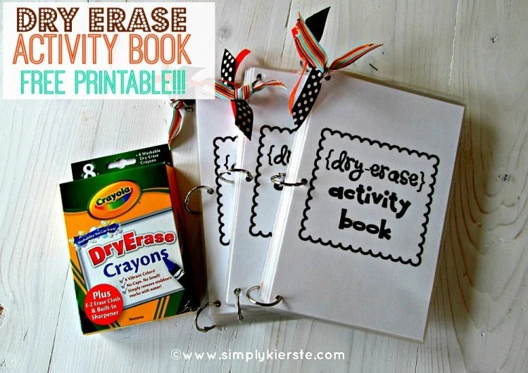 Dry Erase Activity Book | oldsaltfarm.com