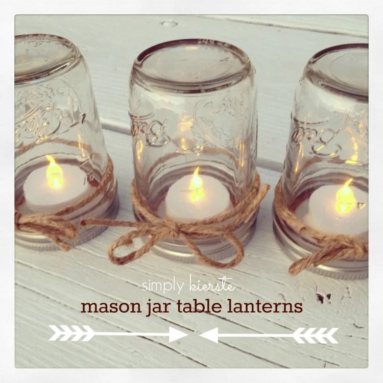 Mason Jar Table Lantern | oldsaltfarm.com