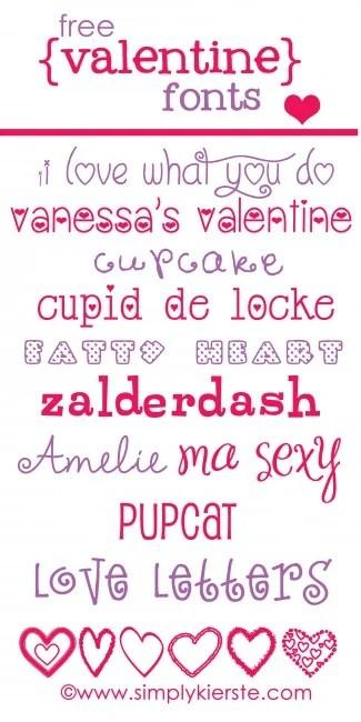 Free Valentine Fonts | oldsaltfarm.com