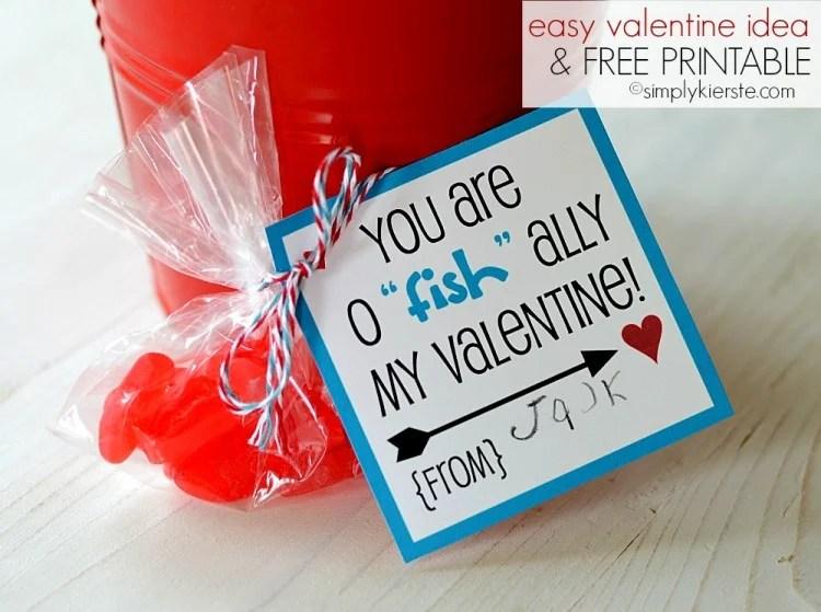 "easy valentine idea   o""fish""ally   DIY, crafts, printables & more   oldsaltfarm.com"
