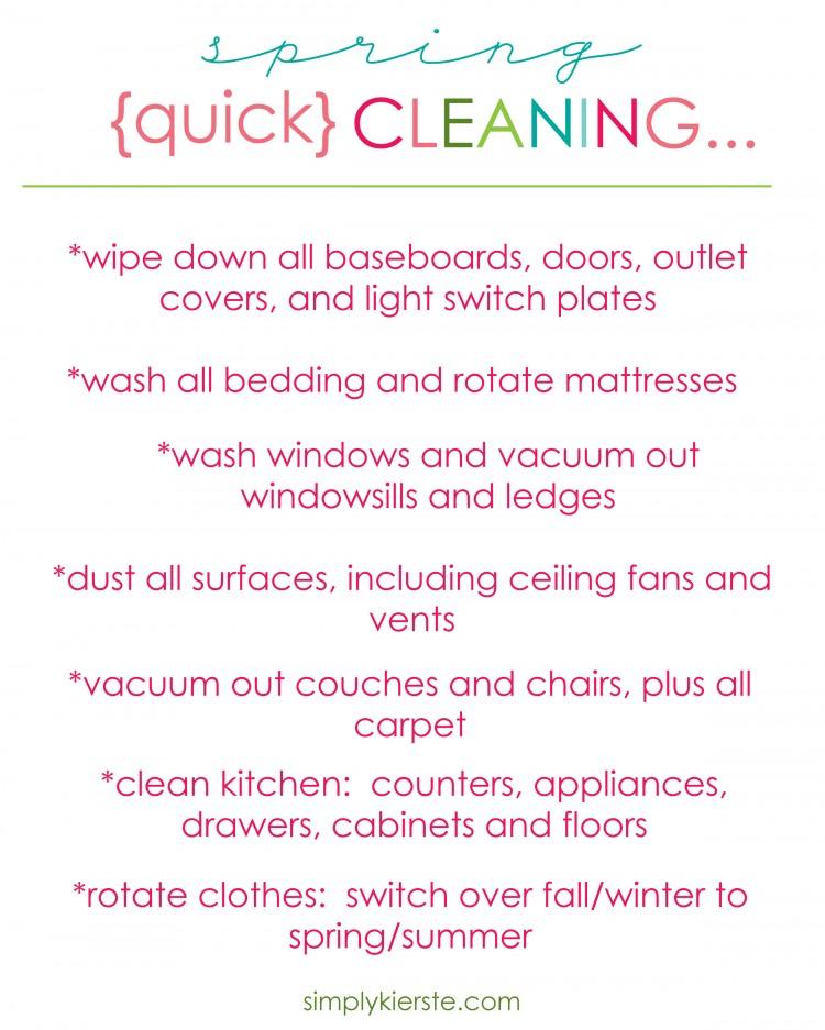 Quick Spring Cleaning | oldsaltfarm.com
