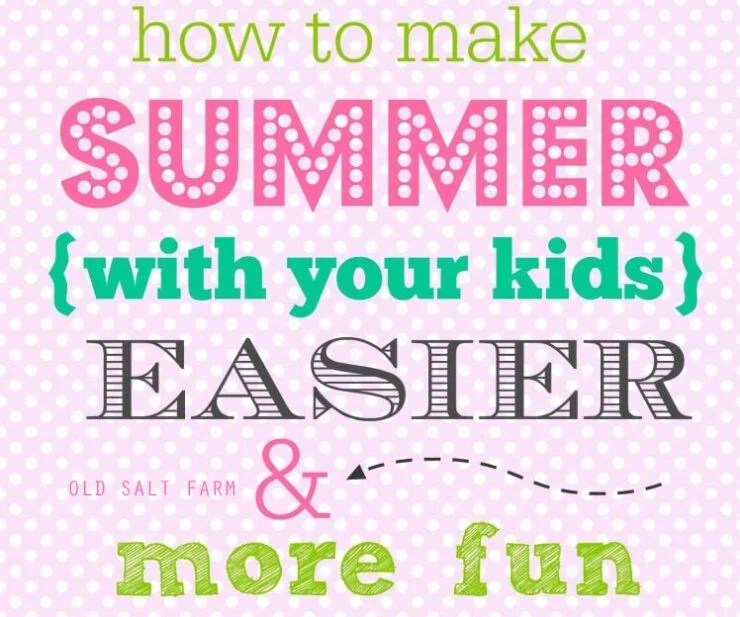 Fun Summer Schedule for Families