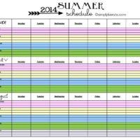 2014 Summer Schedule | FREE PRINTABLE | oldsaltfarm.com