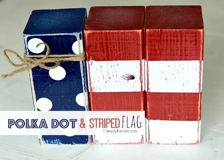Polka Dot & Striped Flag   oldsaltfarm.com