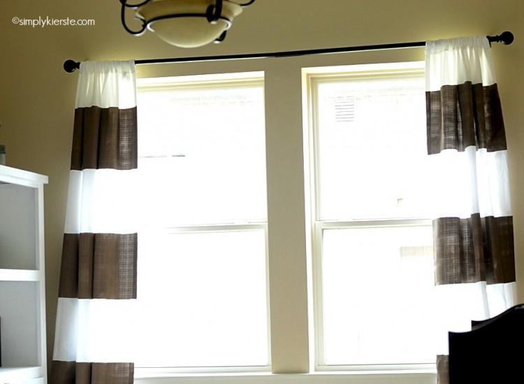 diy painted curtains | oldsaltfarm.com