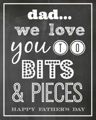 Bits & Pieces Father's Day Gift Idea & FREE PRINTABLE | oldsaltfarm.com