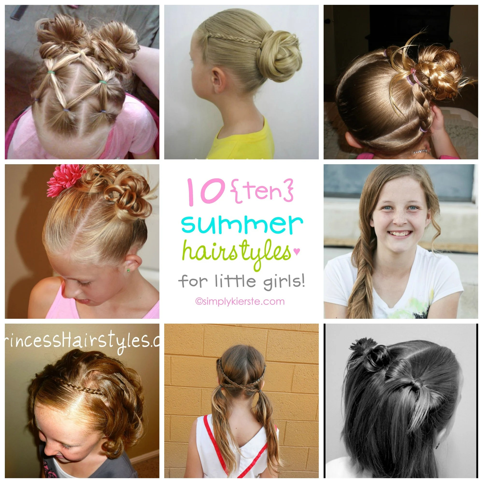 11 Fun Summer Hairstyles for Little Girls  oldsaltfarm.com