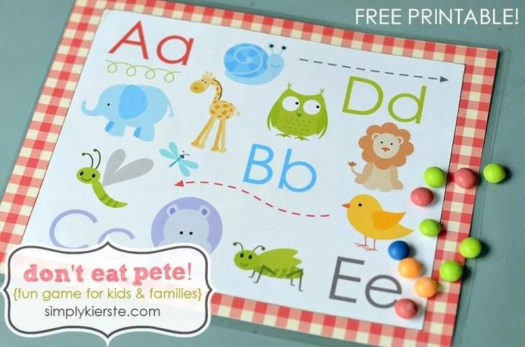 don't eat pete   free printable   oldsaltfarm.com
