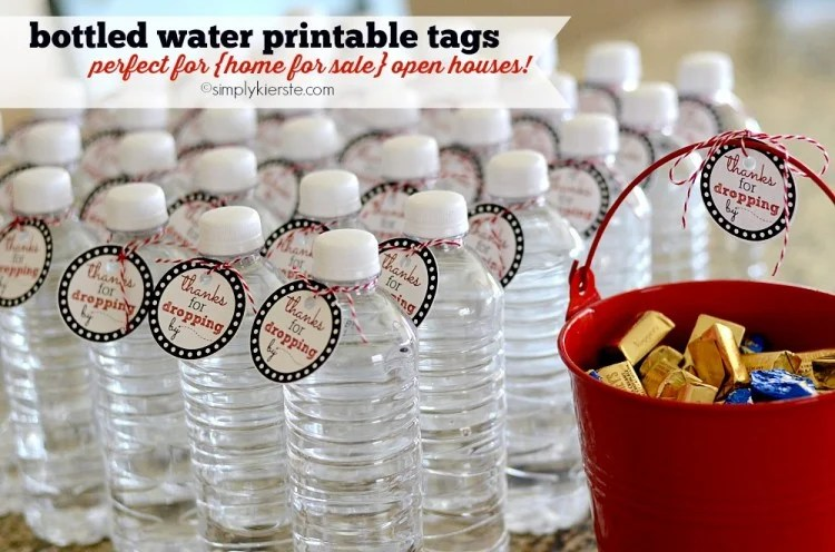 Bottled Water Printable Tags | oldsaltfarm.com