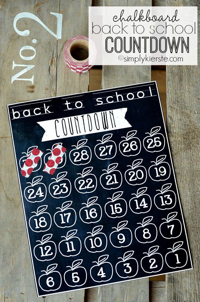 chalkboard back to school countdown | oldsaltfarm.com