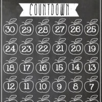 Chalkboard Back to School Countdown | oldsaltfarm.com