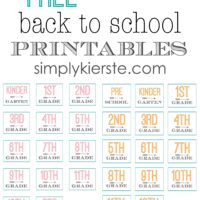 free back to school printables | oldsaltfarm.com