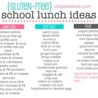 Gluten Free School Lunch Ideas | oldsaltfarm.com
