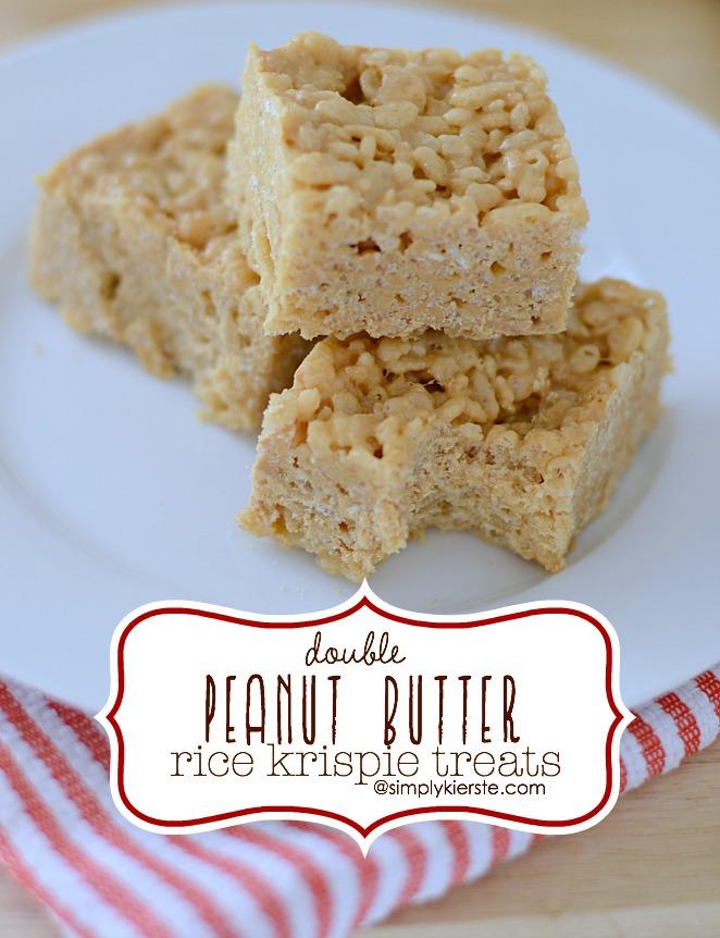 Double Peanut Butter Rice Krispies | oldsaltfarm.com