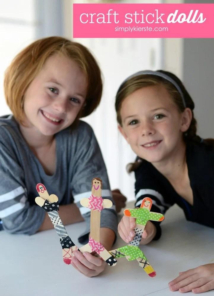 Craft Stick Dolls | A Fun Craft For Kids | oldsaltfarm.com