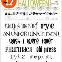 Not-So-Spooky Halloween Fonts | oldsaltfarm.com