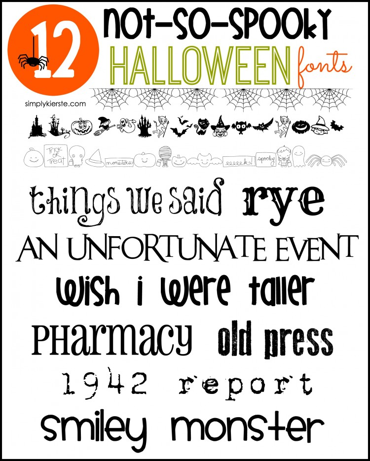 Not-So-Spooky Halloween Fonts | oldsaltfarm.com