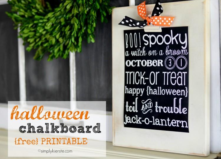 Halloween Chalkboard Printable | simplykierste. com