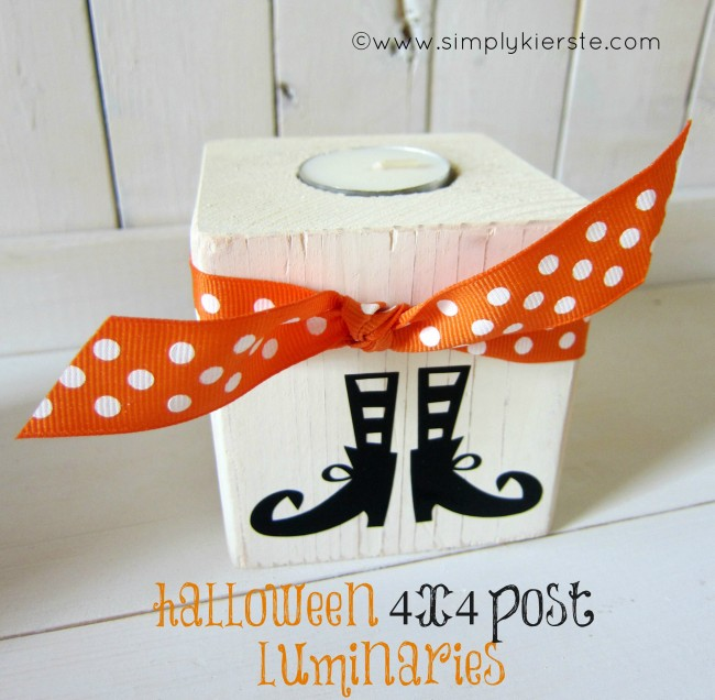 4x4 Post Halloween Luminaries | oldsaltfarm.com