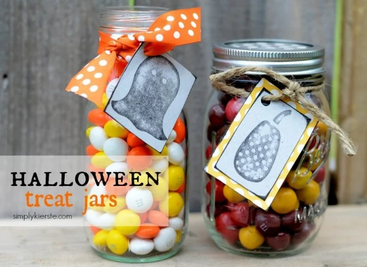 Halloween Treat jars | oldsaltfarm.com