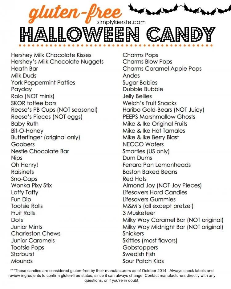 Gluten Free Halloween Candy  | oldsaltfarm.com