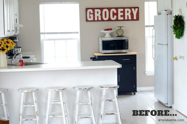 Kitchen Stools Makeover with Glidden | oldsaltfarm.com