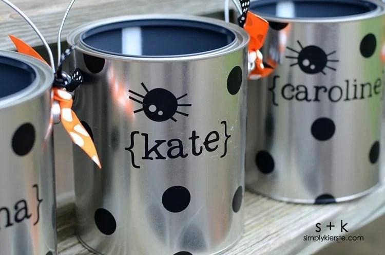 Paint Can Trick-or-Treat Buckets | oldsaltfarm.com