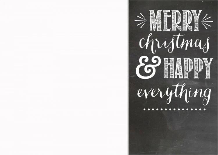 Free Chalkboard Christmas Card Template | oldsaltfarm.com
