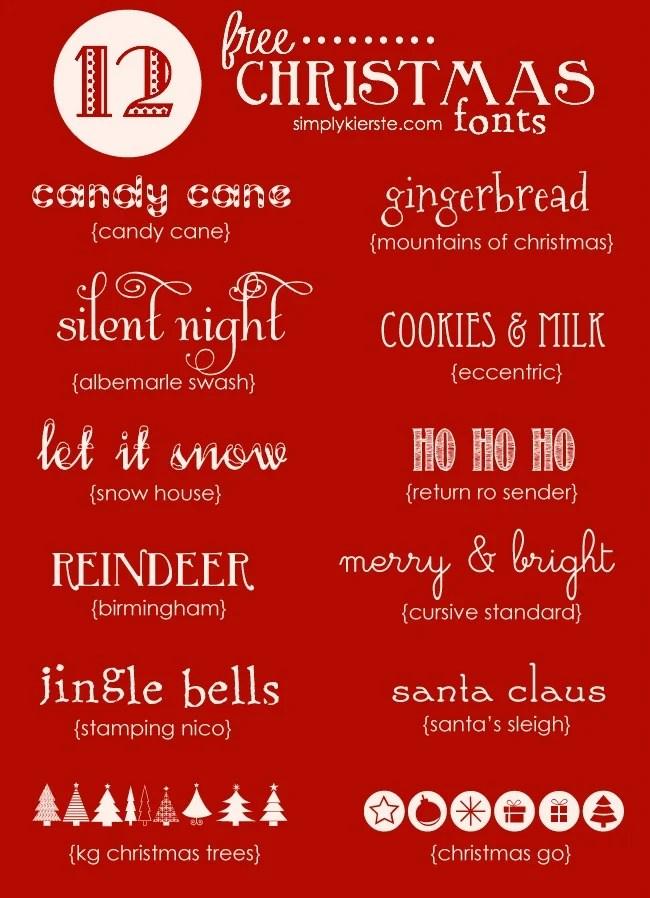 Favorite Free Christmas Fonts | oldsaltfarm.com