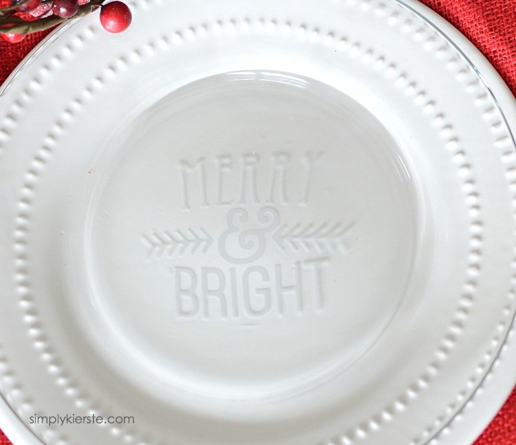 Etched Glass Christmas Plates | oldsaltfarm.com