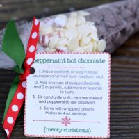 Peppermint Hot Chocolate Neighbor Gift | oldsaltfarm.com