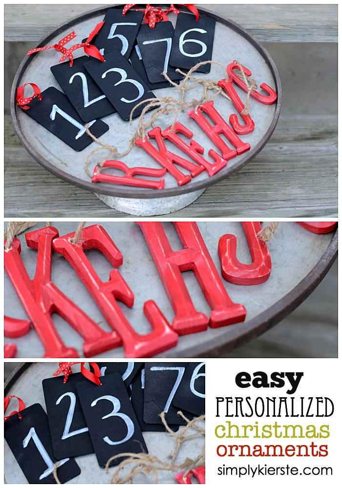 Easy Personalized Christmas Ornaments | oldsaltfarm.com