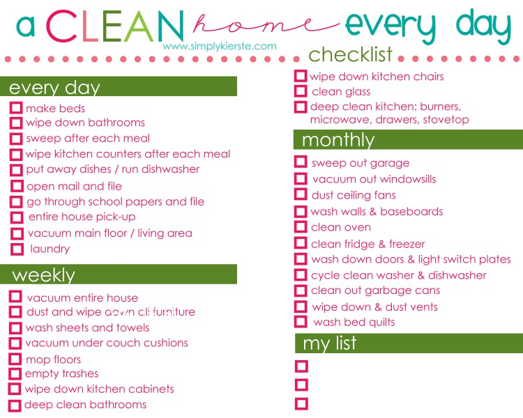 How to have a clean home everyday | oldsaltfarm.com