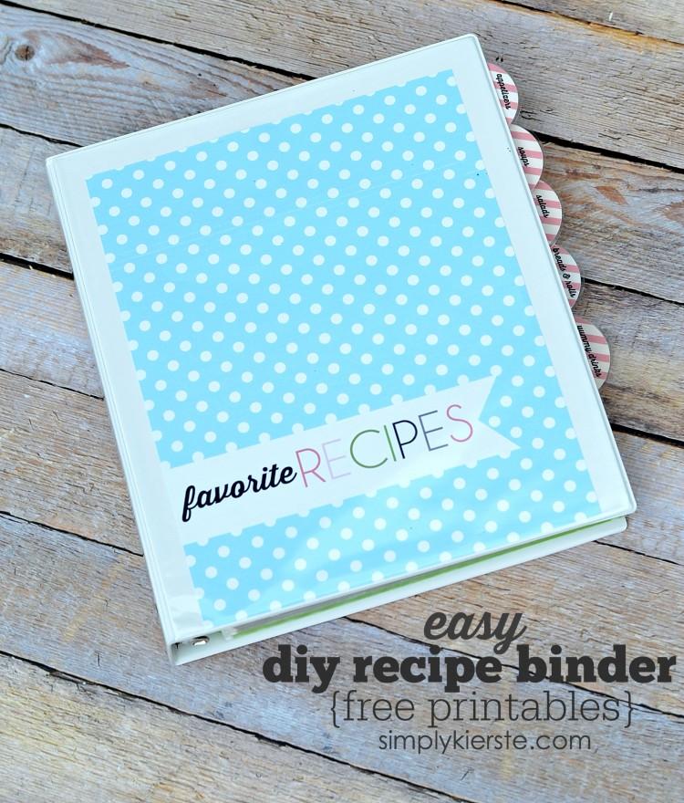 DIY Recipe Binder | oldsaltfarm.com