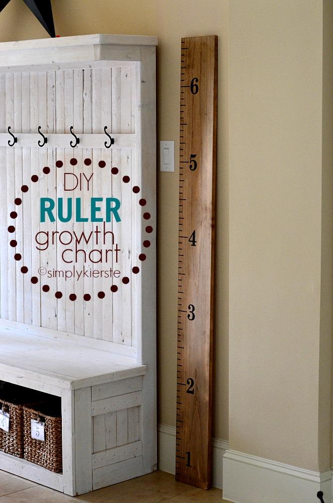 Easy DIY Ruler Growth Chart | oldsaltfarm.com