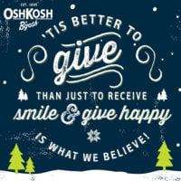 Give Happy with Osh Kosh | oldsaltfarm.com