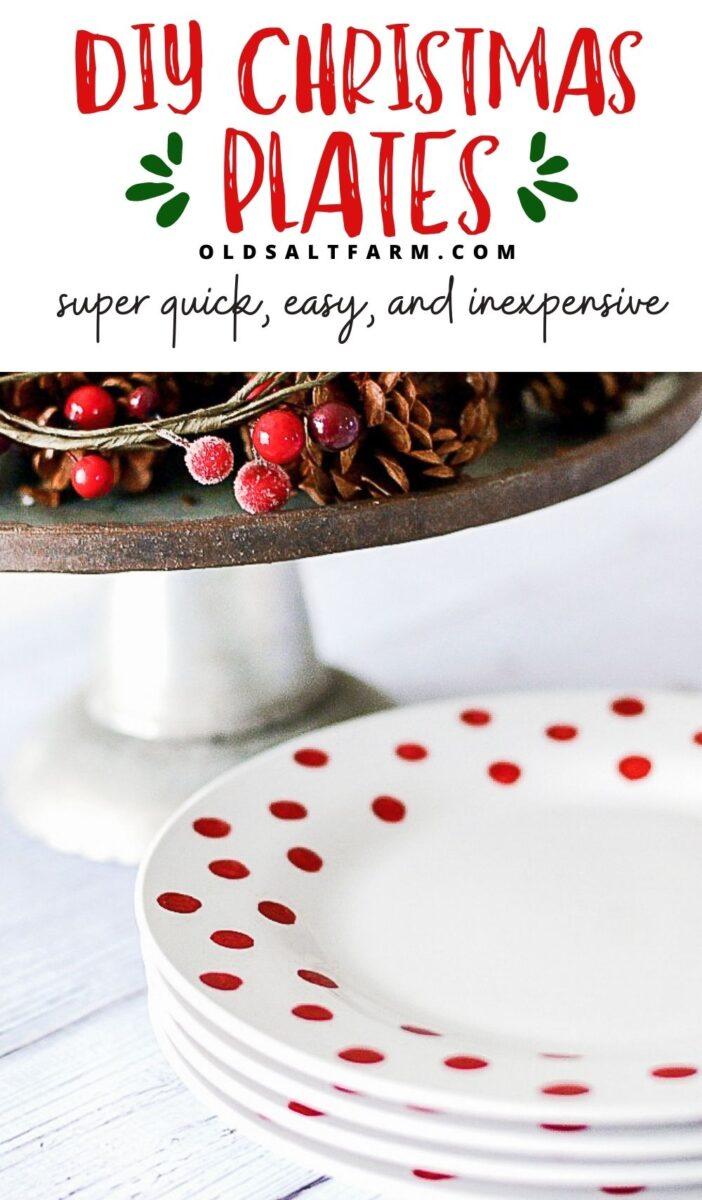 DIY Polka Dot Christmas Plates
