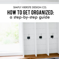 How to get organized | A guide to getting started | oldsaltfarm.com #gettingorganized #howtogetorganized #organizationtips #organizationideas