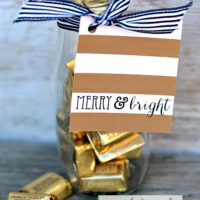 Gold Striped Gift Tags | Free Printables | oldsaltfarm.com