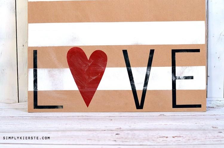 Striped Love Sign | oldsaltfarm.com