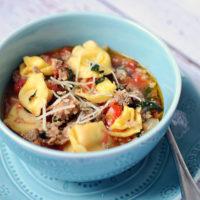 Rustic Italian Tortellini Soup | oldsaltfarm.com