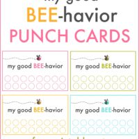 Good behavior punch cards | free printable | oldsaltfarm.com