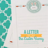 A Letter from the Easter Bunny | Official Easter Bunny Stationary | oldsaltfarm.com