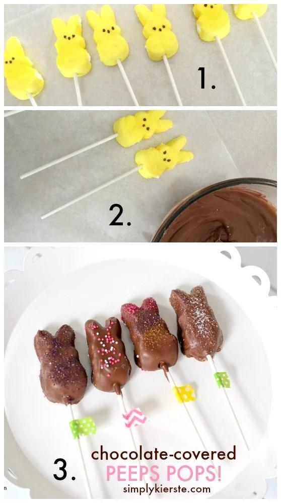 chocolate-covered peeps pops | oldsaltfarm.com