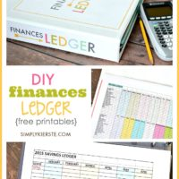 DIY FInances Ledger | free printables | oldsaltfarm.com