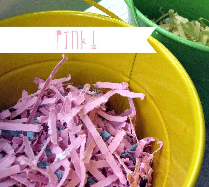 homemade easter grass pink | oldsaltfarm.com